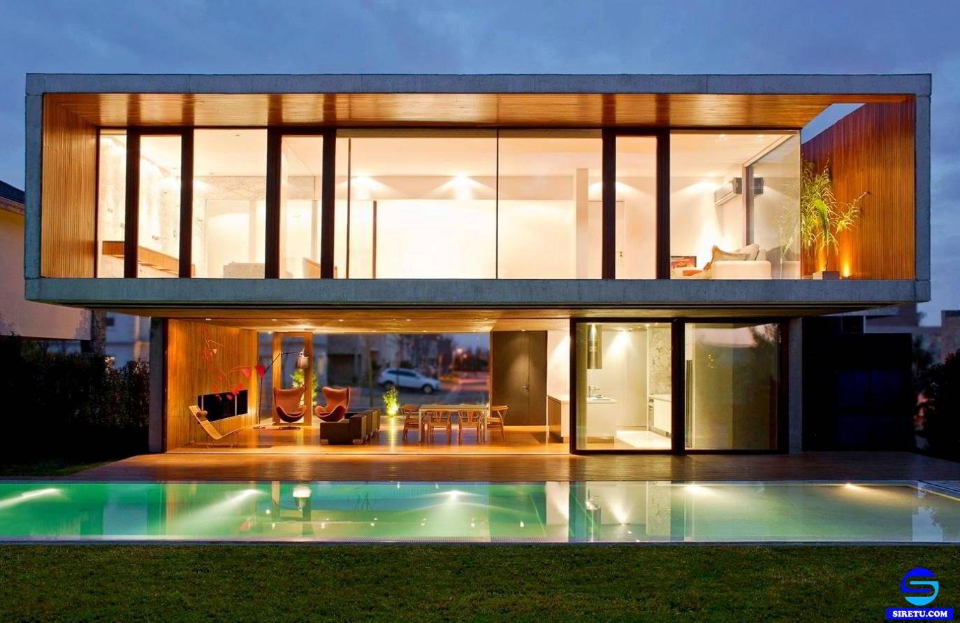 Download Koleksi Desain Rumah Minimalis Full Kaca Terkeren