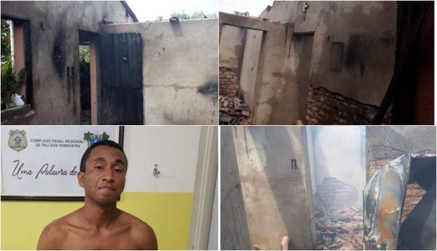 Resultado de imagem para Um mulher de 61 anos teve a casa incendiada no 'Domingo das Mães', em São Miguel, no Oeste Potiguar.