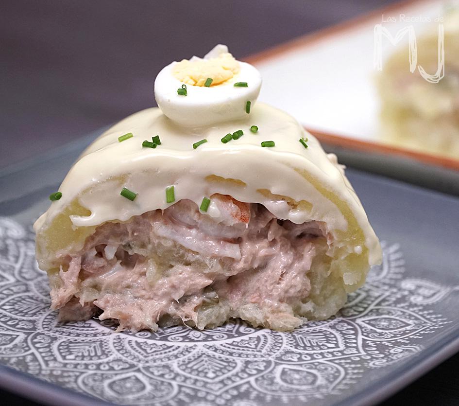 pastel de patata y atún frío receta