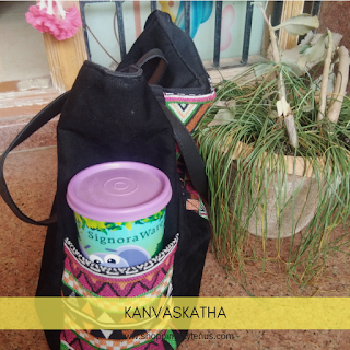 Shopping, Style and Us: India's Best Shopping and Self-Help Blog - Quick Review of the Kanvas Katha Multicolor Velvet Tote Bag