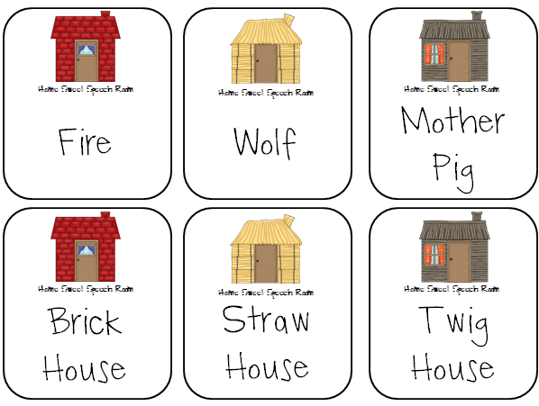 students will draw a house card and come up with a question for the answer  on the card  includes 24 house cards, 3 wolf cards, and 3 blank cards