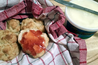 Homemade Biscuits with Thrice-Spiced Plum Jam