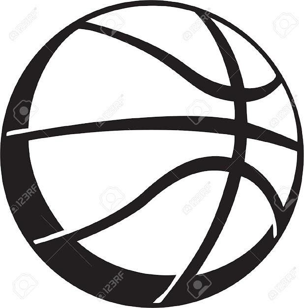 Basketball Vinyl Ready Stock Vector