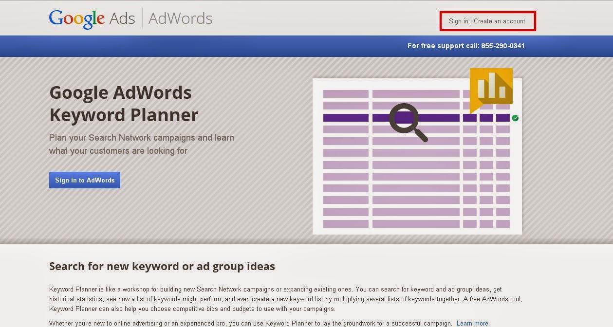 cara daftar Google AdWords