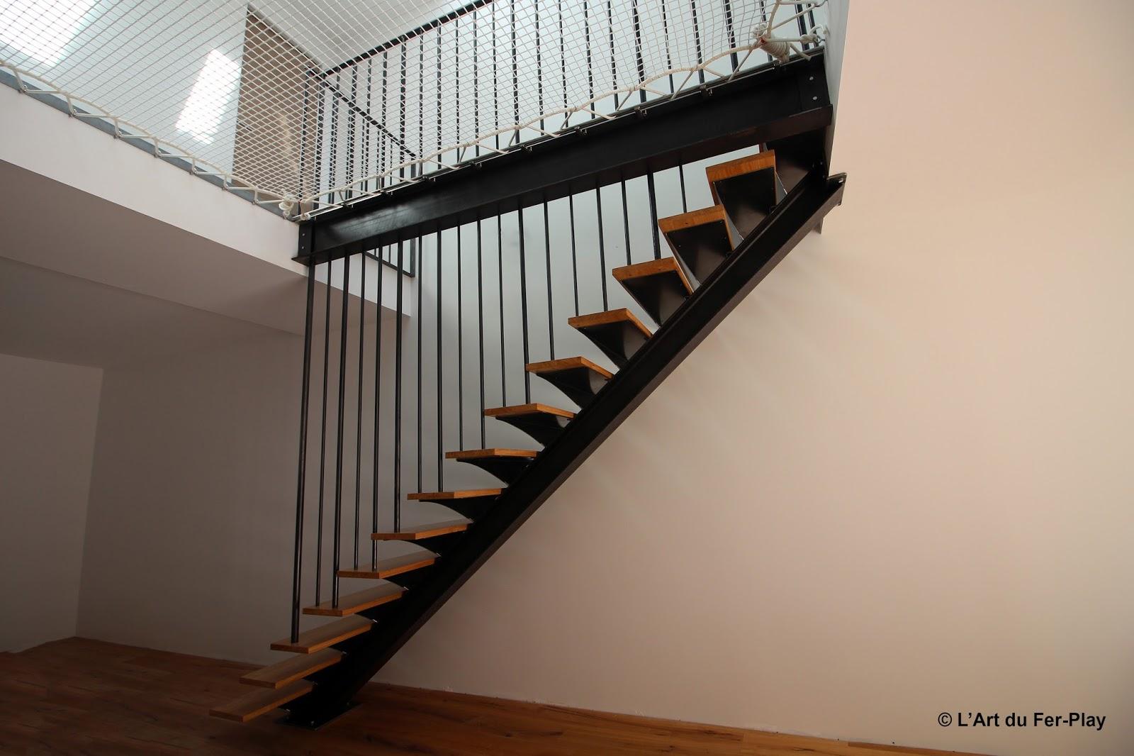 escalier droit deux rampes