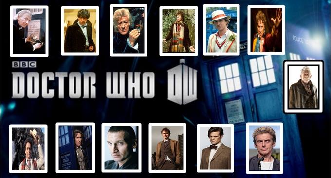 Foto que ilustra os Treze personagens e atores da serio de ficção Dr. Who