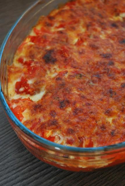 Gratin d'aubergines, courgettes, tomates et mozzarella