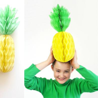 DIY Décorations de Fête Ananas Alvéolées