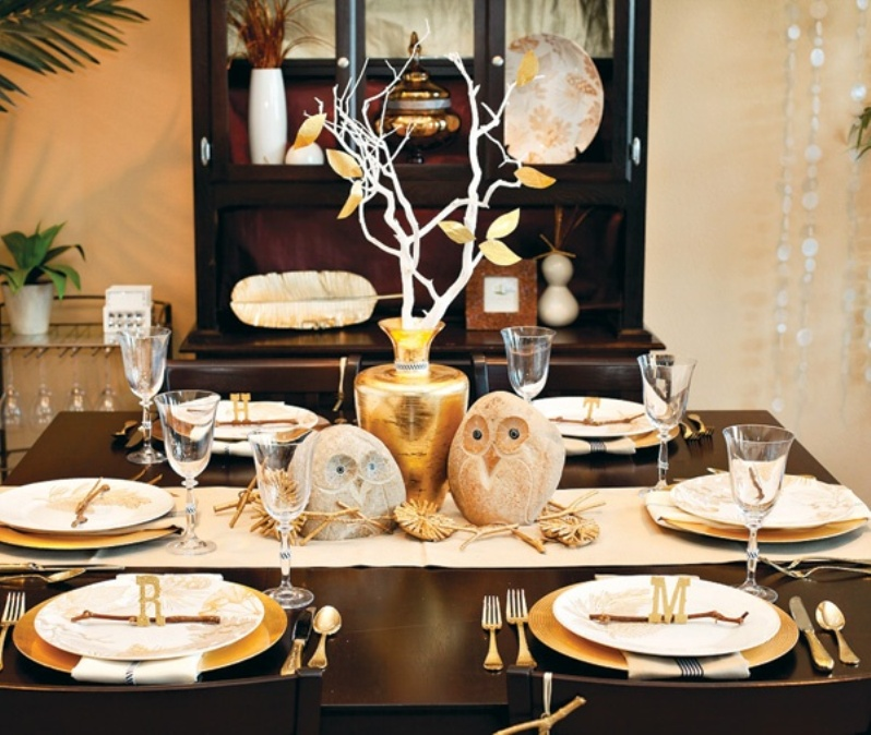 Table Decorations For Fall Dinner Party Photograph