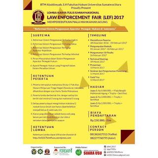 Lomba Karya Tulis LEF 2017 di USU