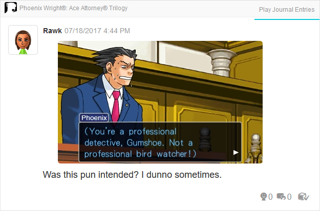 Phoenix Wright Ace Attorney Trials and Tribulations Dick Gumshoe professional detective not bird watcher