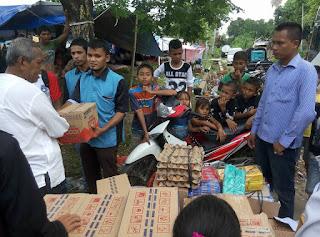 Relawan LPDA Santuni Korban Gempa Pidie Jaya