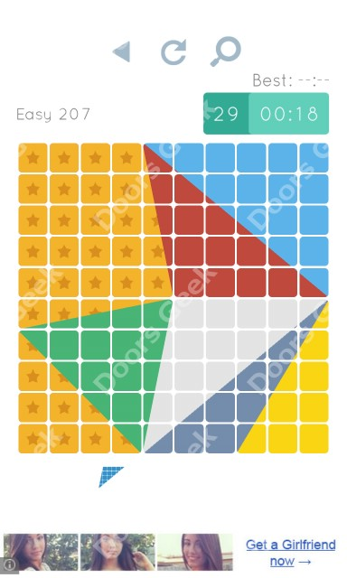 Cheats, Walkthrough for Blocks and Shapes Level 207