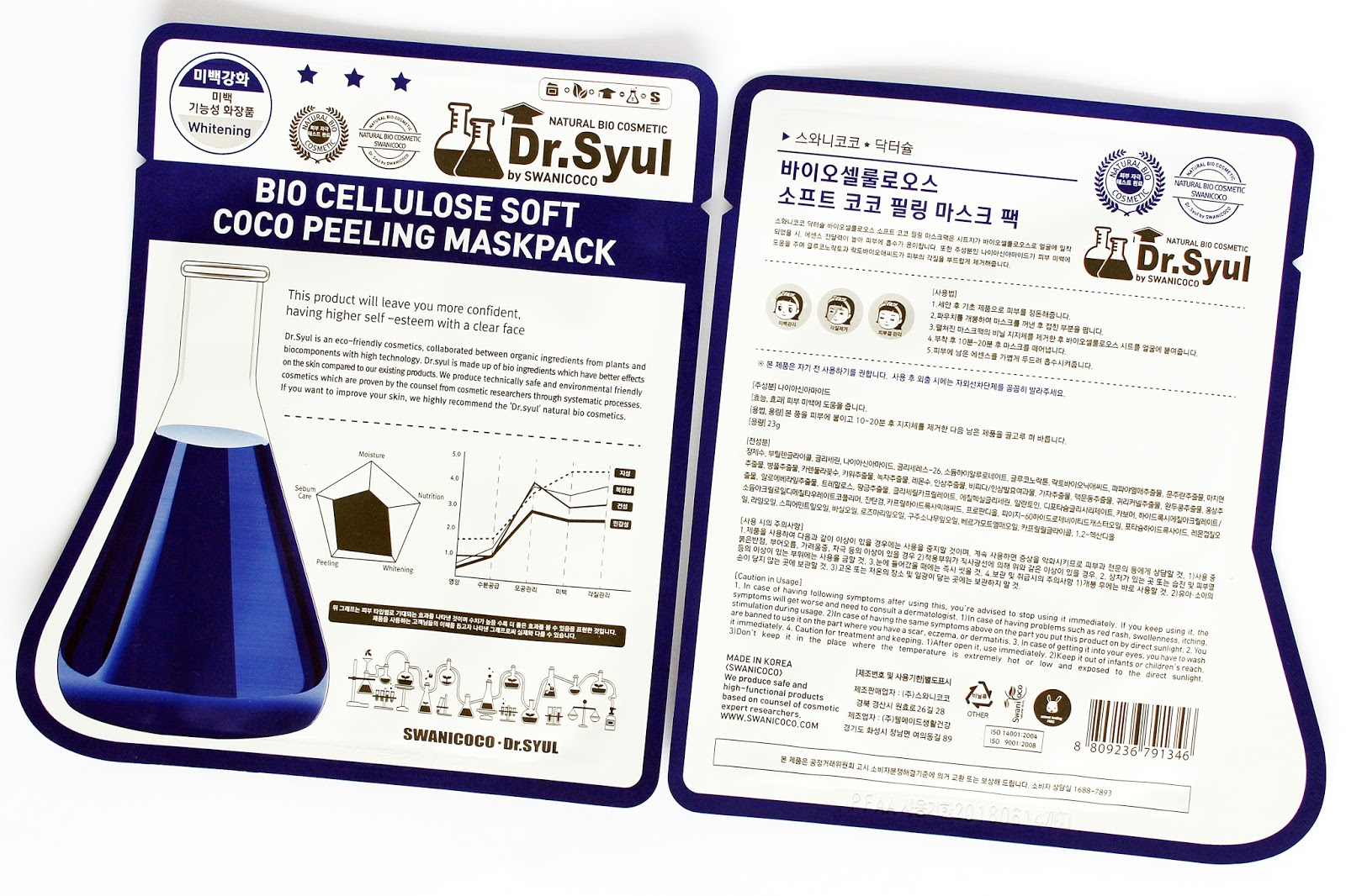 Dr. Syul by Swanicoco, Bio Cellulose Soft Coco Peeling Mask Pack