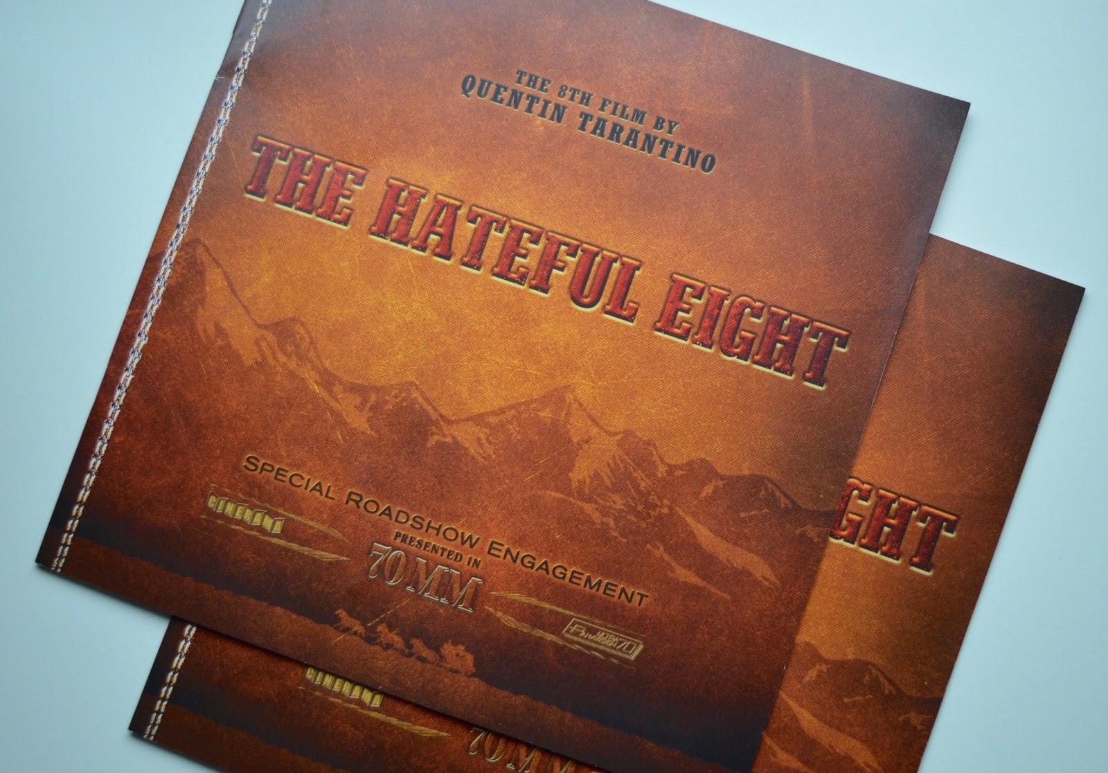 The Hateful Eight 70mm roadshow programme