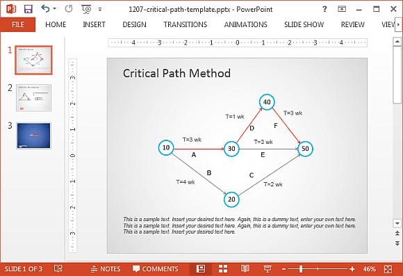 critical path template