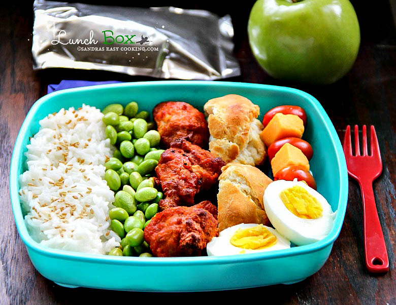 Lunch Box: Rice Mukimame Chicken Wings #bento #homemade #lunchbox