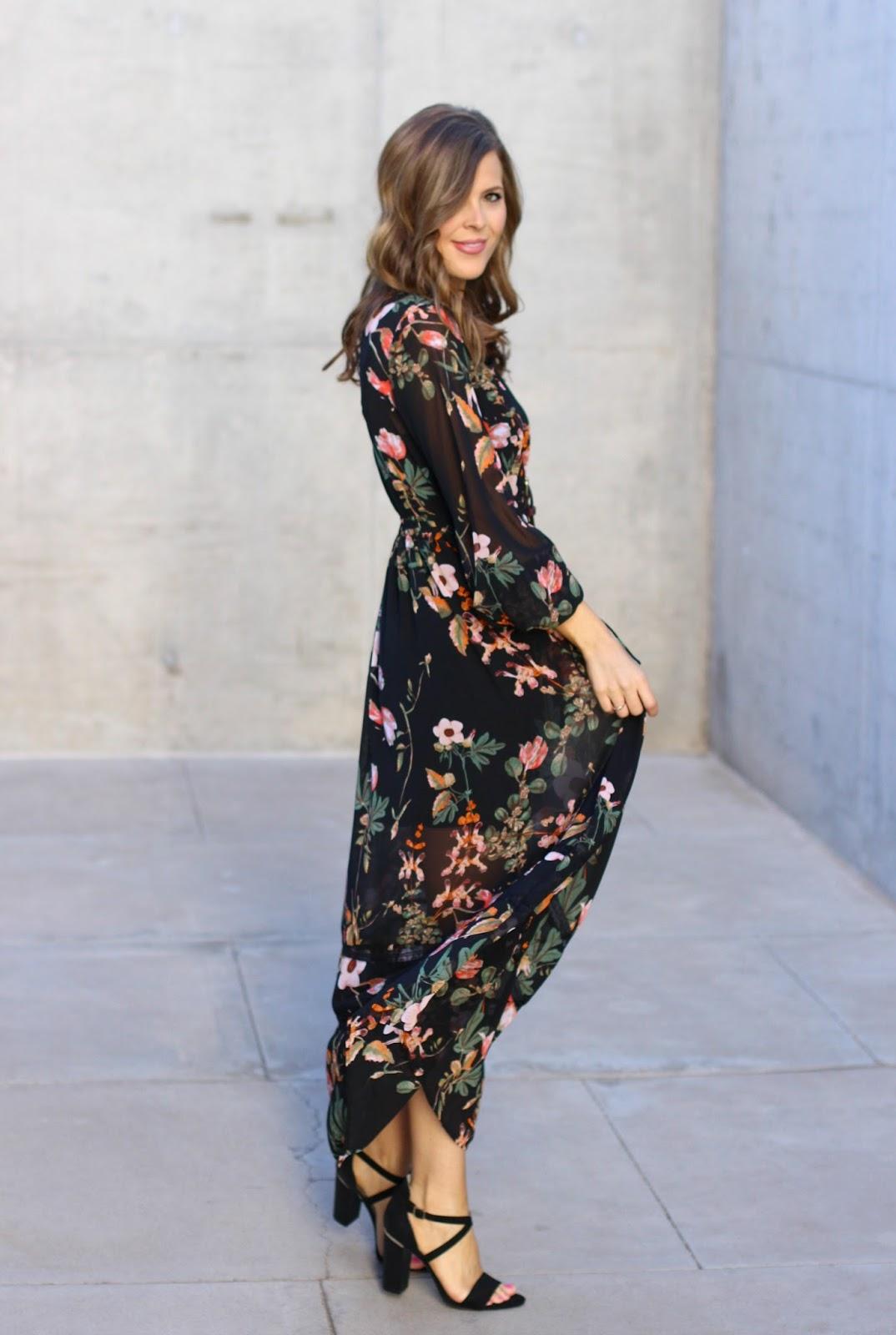 BELLE SKY Floral Maxi Dress