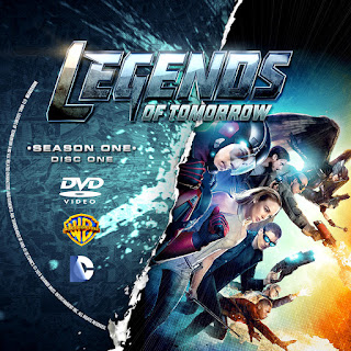 Label DVD Legends Of Tomorrow Primeira Temporada D1 a D4