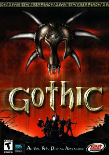 The box art for the 2001 PC game, Gothic.