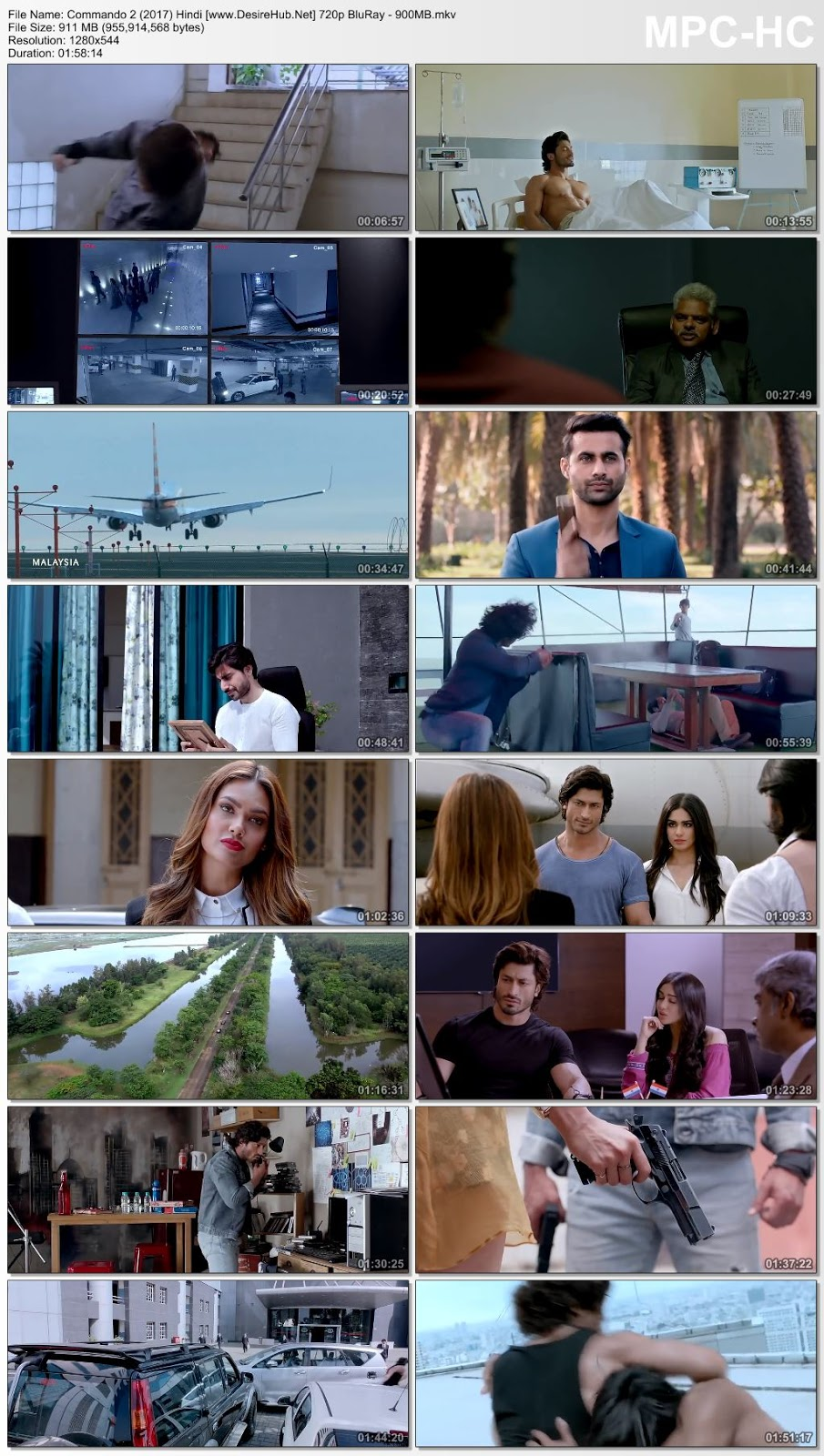 Commando 2 (2017) Hindi 720p BluRay – 900MB Desirehub