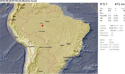 terremoto de 5,7 atingiu Porto Velho