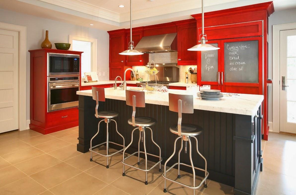 Ideias de cozinhas coloridas