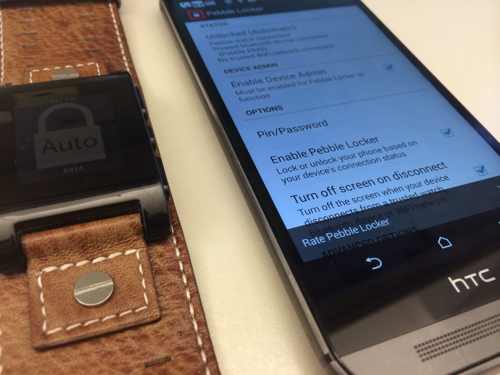 How to Unlock Your Android Phone From Your Pebble | Geek5auce