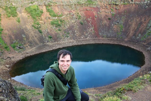Alberto en lo alto del volcán Kerið