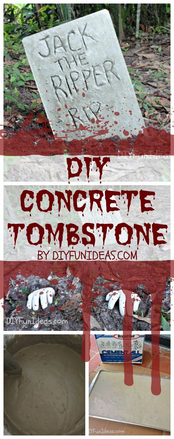 halloween concrete tombstones diy