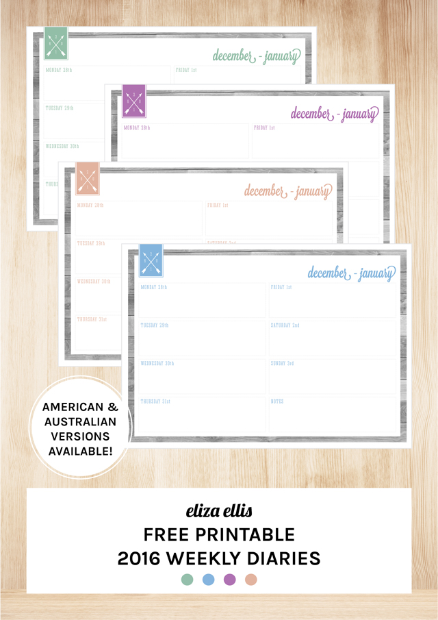 ... Page Calendars, Month to a Page Calendars, Week to a Page Diary and