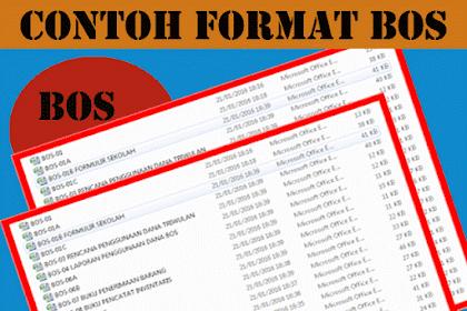 Contoh Format BOS Excel lengkap Terbaru