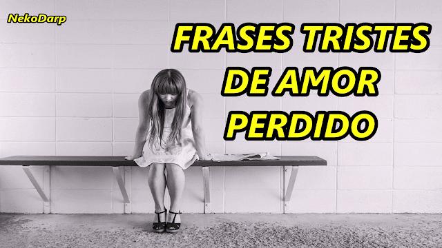 Frases Tristes De Amor Perdido Nekodarp Frases De La Vida De Amor