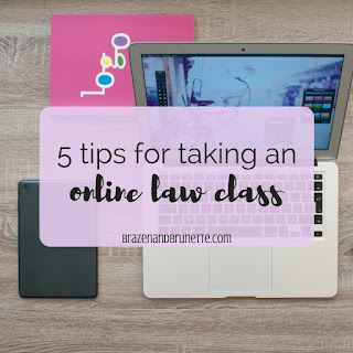 Whether you're taking law school online or just enrolled in an online law school course, don't think it will necessarily be easy. I took two online law classes and lived to tell the tale (and tips). 5 tips for an online law class | brazenandbrunette.com