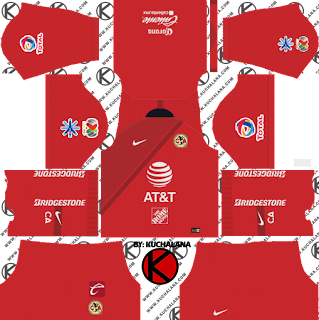and the package includes complete with home kits Baru!!! Club America 2018/19 Kit - Dream League Soccer Kits