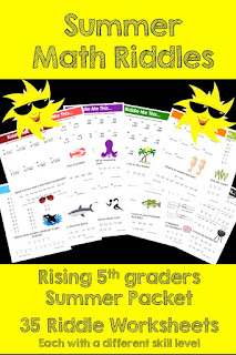 Summer Packet for rising 5th graders