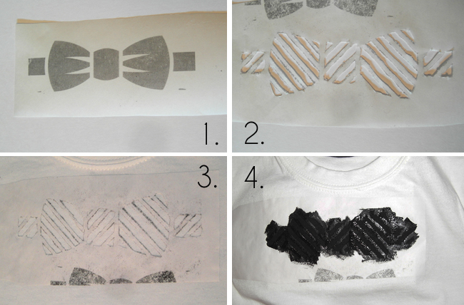 how to use freezer paper as a stencil
