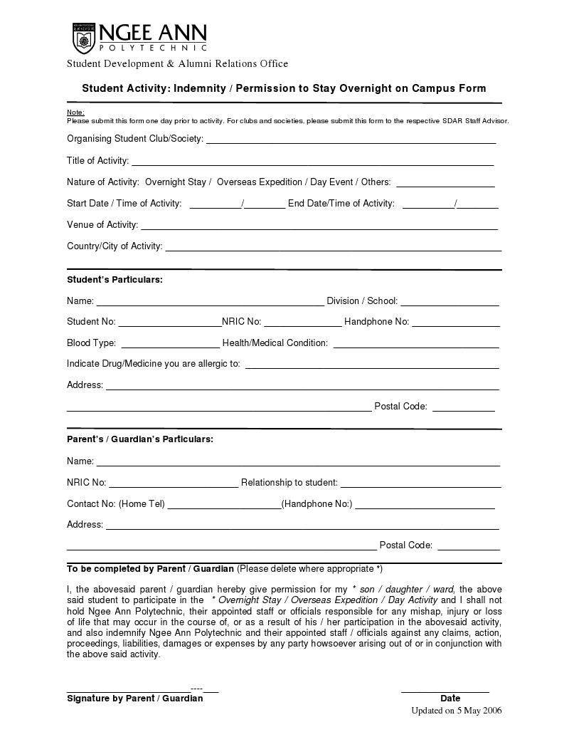 Doc638826 Sample of Indemnity Form Doc11301600 Indemnity Form – Sample of Indemnity Form