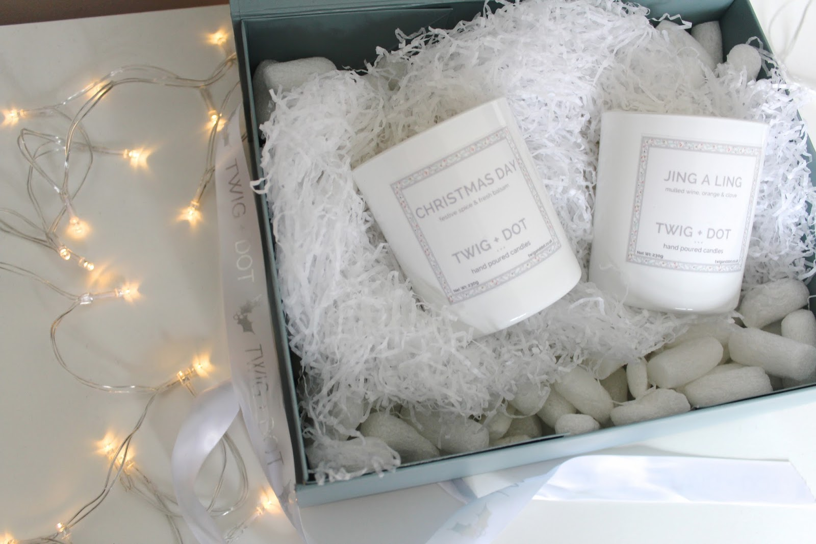 twig + dot candles the glisten set jing a ling christmas day review candle beauty blog blogger bblogger beauty lifestyle home decoration lights kirstie pickering
