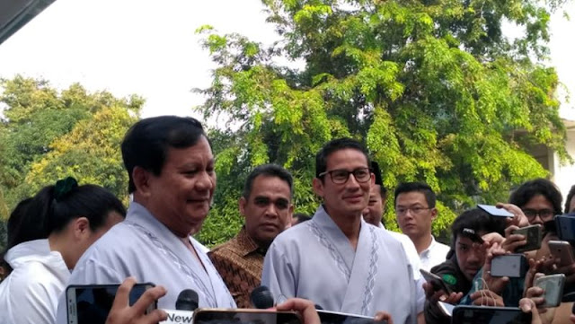 Prabowo dan Sandi Dapat Restu Alam, Jakarta Pusat Cerah Berawan