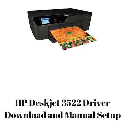 HP Deskjet 3522 Driver Download and Manual Setup