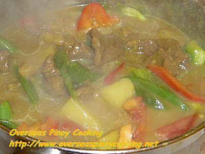 Pinoy Beef Curry - Cooking Procedure