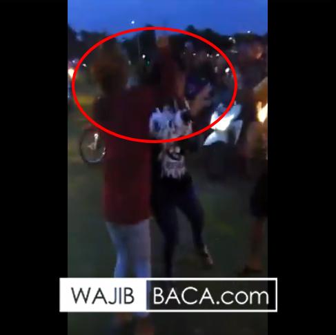 Langsung Diburu Polisi, Tiga Perempuan Adu Jotos di Simpang Lima Gumul, Lihat Videonya