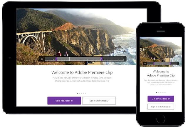 تطبيق Adobe Premiere Clip للأندرويد والآيفون والآيباد