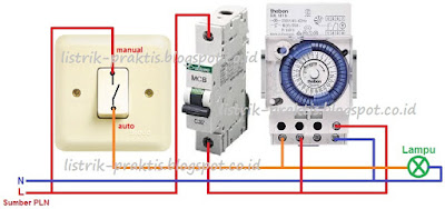 Cara instalasi timer Theben SUL 181h