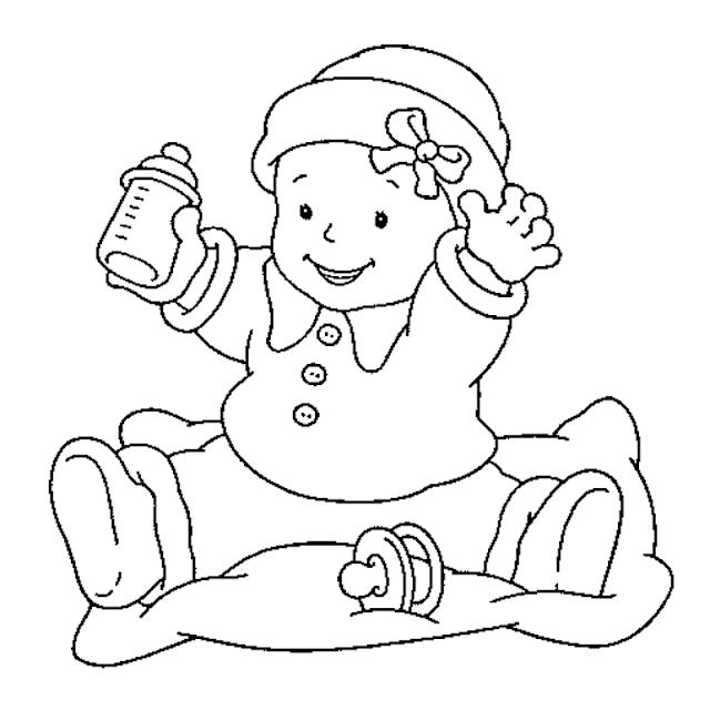 Gambar Mewarnai Bayi - 3