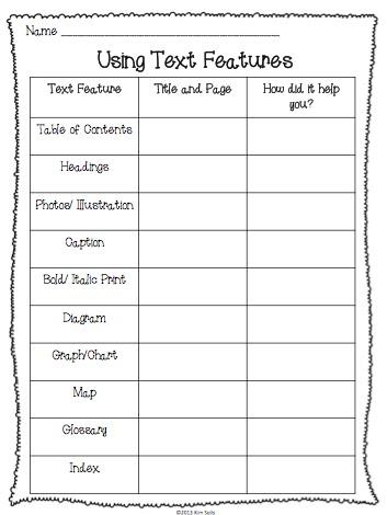 Printables Text Feature Worksheet feature worksheets davezan text davezan