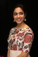 Ritu Varma smiling face Cream Anarkali dress at launch of OPPO New Selfie Camera F3 ~  Exclusive 012.JPG