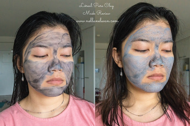 loreal pure clay mask wear test review