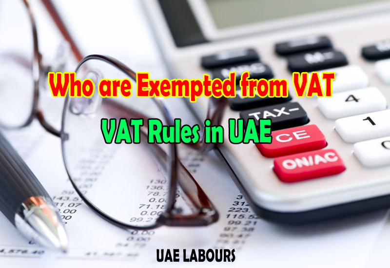 Rules for VAT in UAE